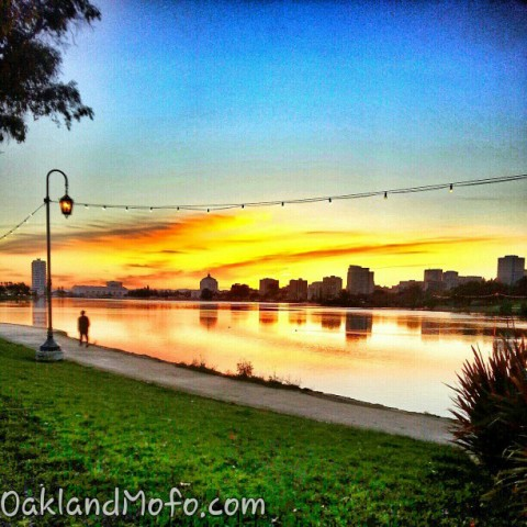 lake merritt sunset oakland