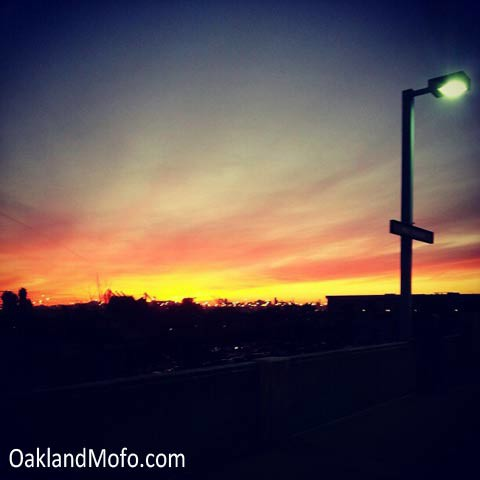 west oakland bart sunset