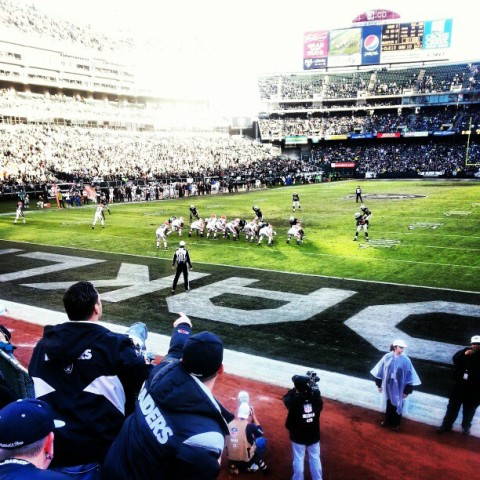 oakland raiders game end zone