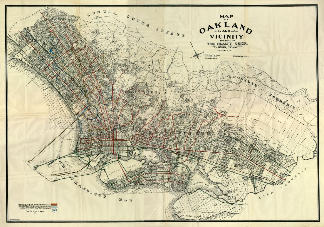 Old map of Oakland