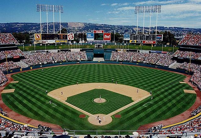 Old Oakland A's Coliseum