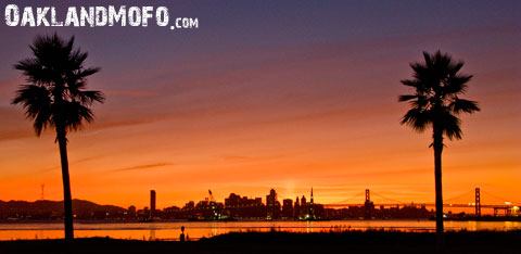 san francisco skyline from port of oakland