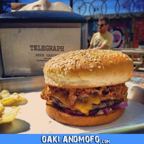 telegraph pulled pork burger