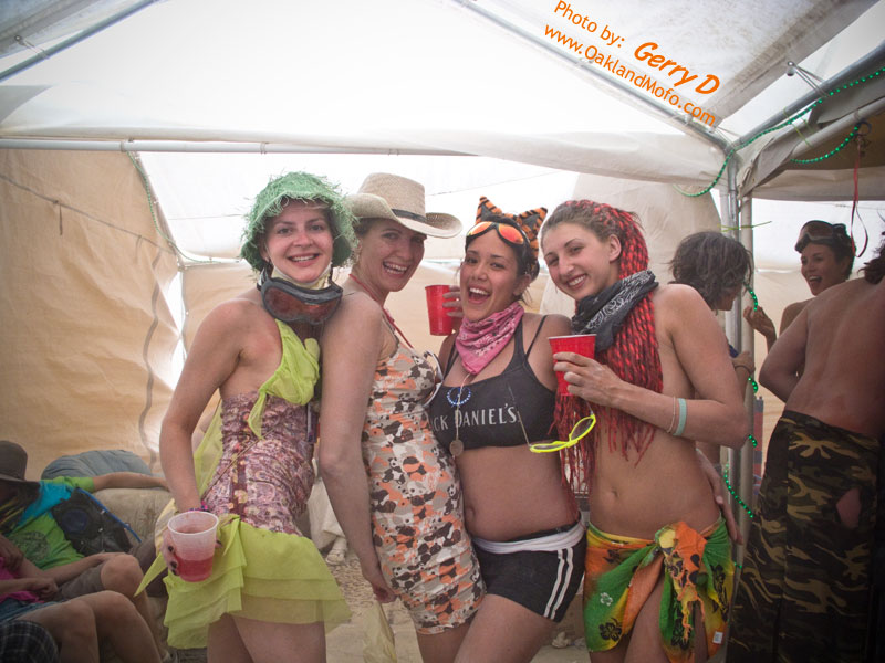 burning man girls naked