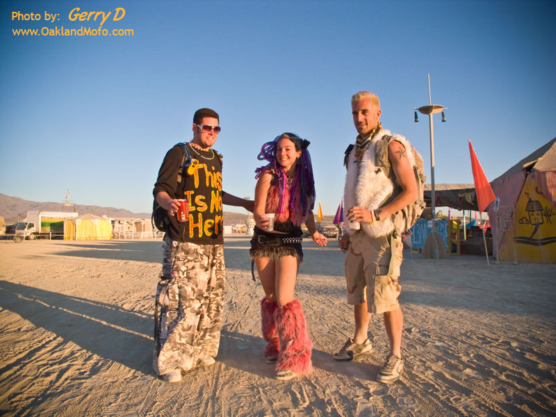 Ravers at dawn