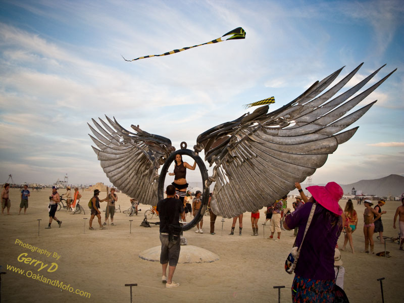 burning man girl nude