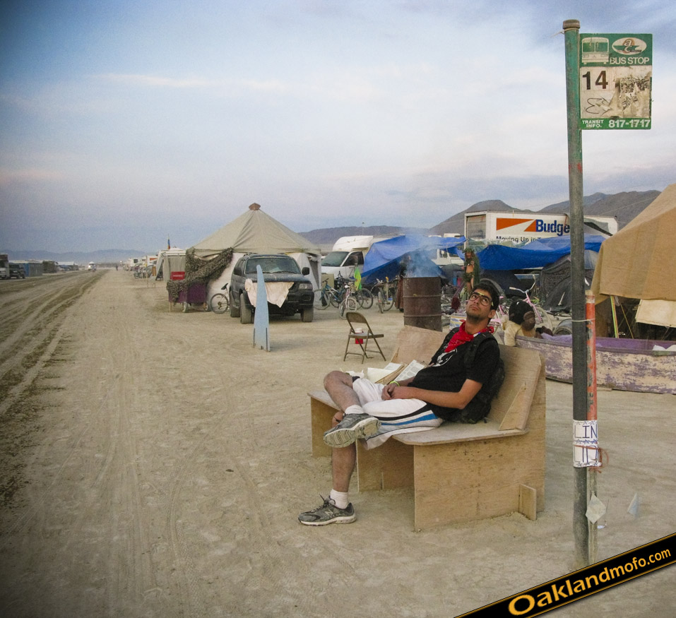 14 AC Transit Bus Stop Burning Man