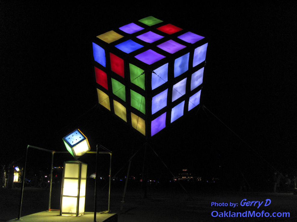 Rubik's Cube Burning Man 2009