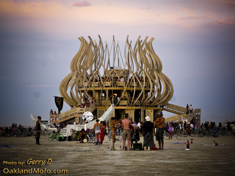 The Temple Burning Man 2009