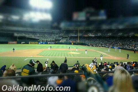 oakland athletics baseball field