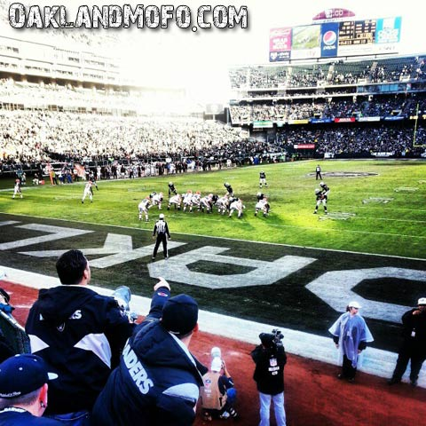 oakland raiders game end zone aka blackhole
