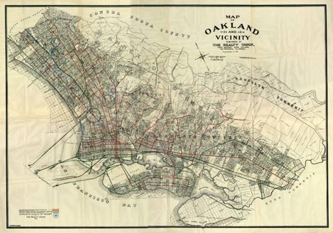 historic map of lake merritt
