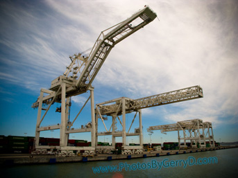 Star Wars AT-AT Walkers? Port of Oakland Cranes?