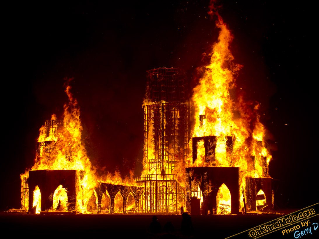 The Temple Burning Man fire