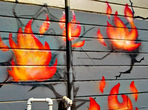 Fire Graffiti Oakland