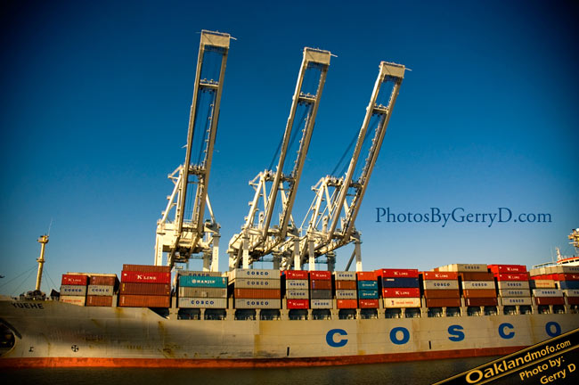 Cosco Ship Port of Oakland