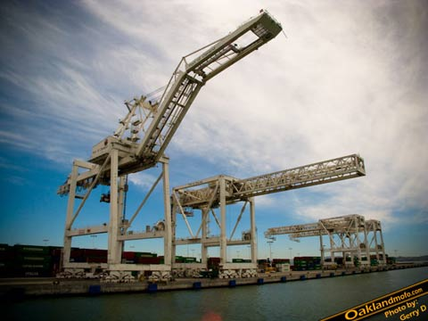 Port of Oakland Cranes