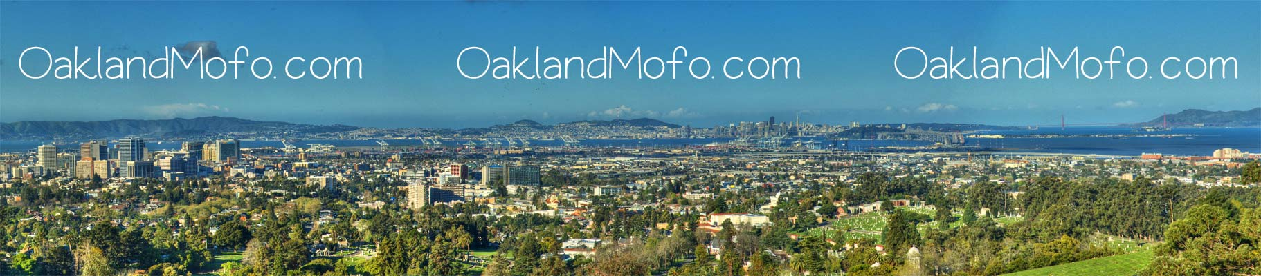Oakland skyline san francisco view