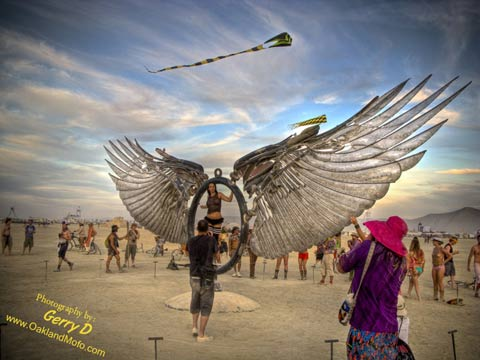 Burning Man 2008 Art The Wings